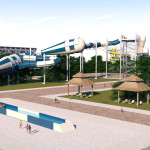 Family Water Slides - Hydra Tube - Mundo A Parque Acuático - Aguascalientes, México