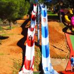 Toboganes de velocidad - Kamikaze - Aqualeon Water Park - Albinyana, Tarragona, España